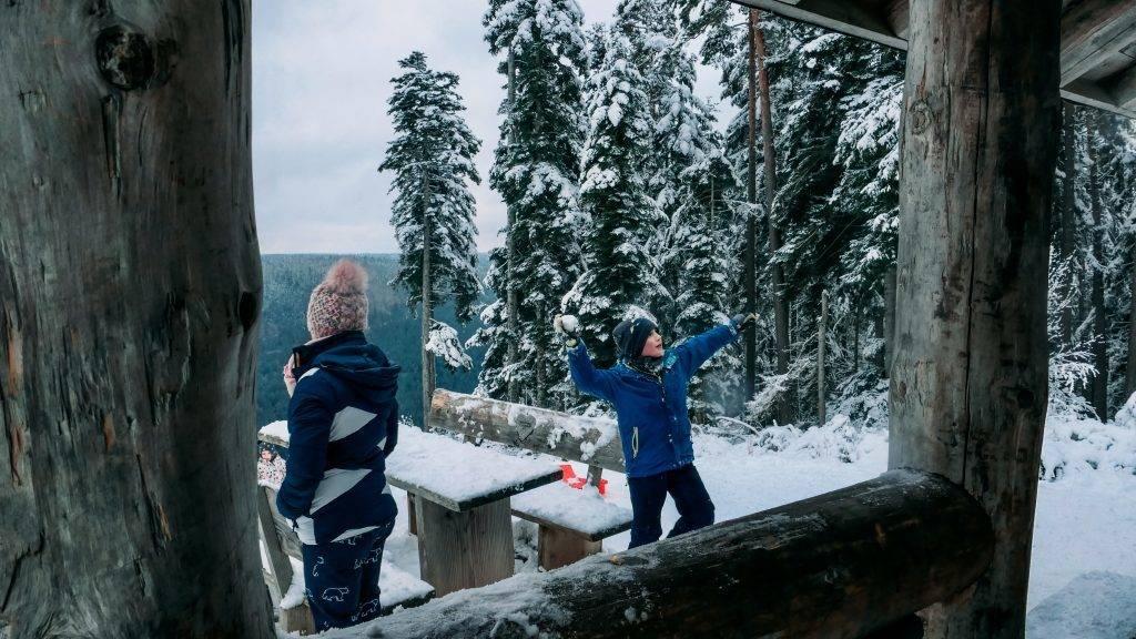 Winter Kinder Schwarzwald