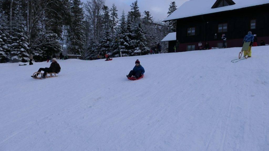 Winter Kinder Schnee