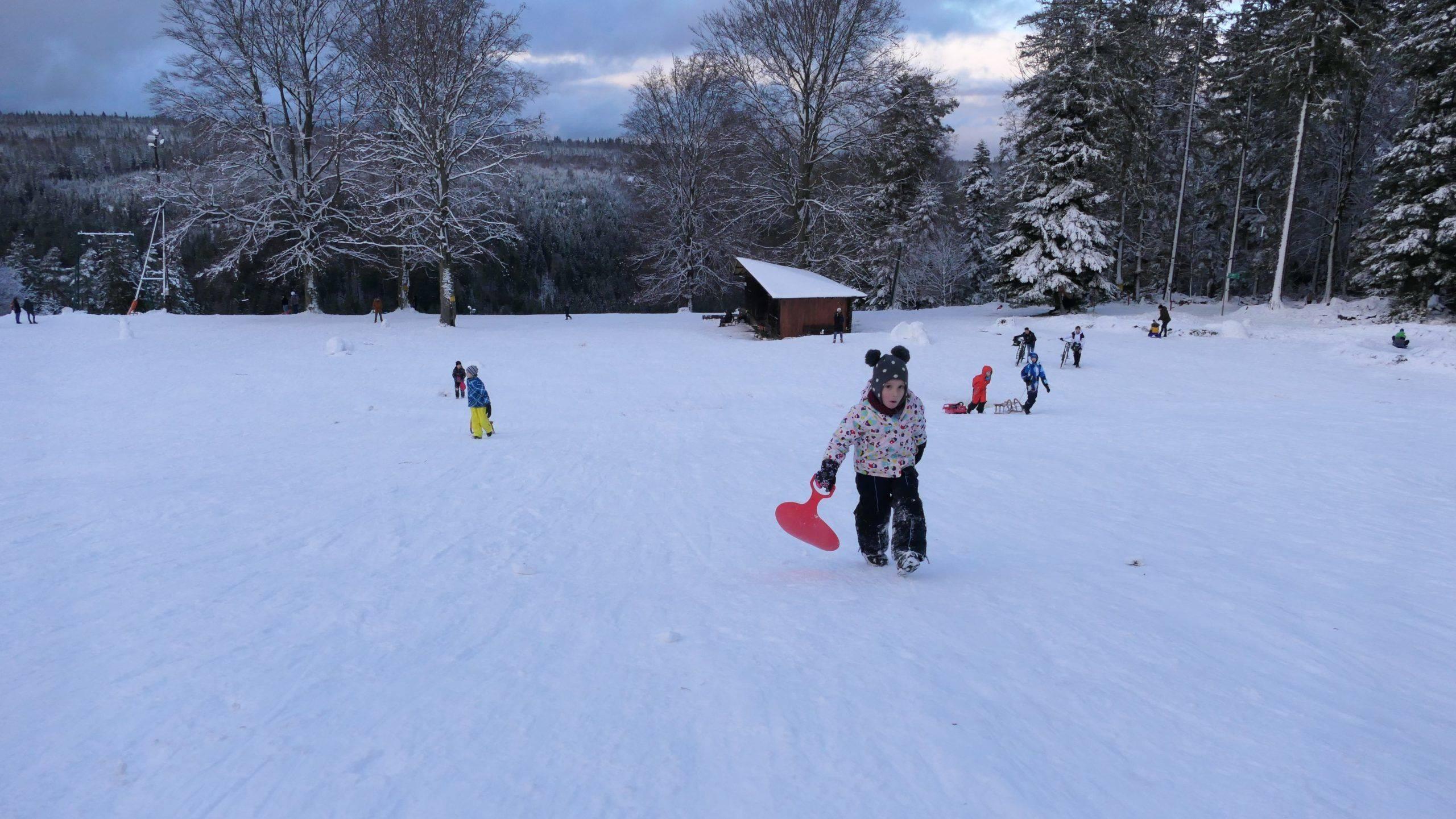 Rodeln in Bad Wildbad. Ein Elfmeter unter den Winter Ausflügen mit den Kindern im Schwarzwald