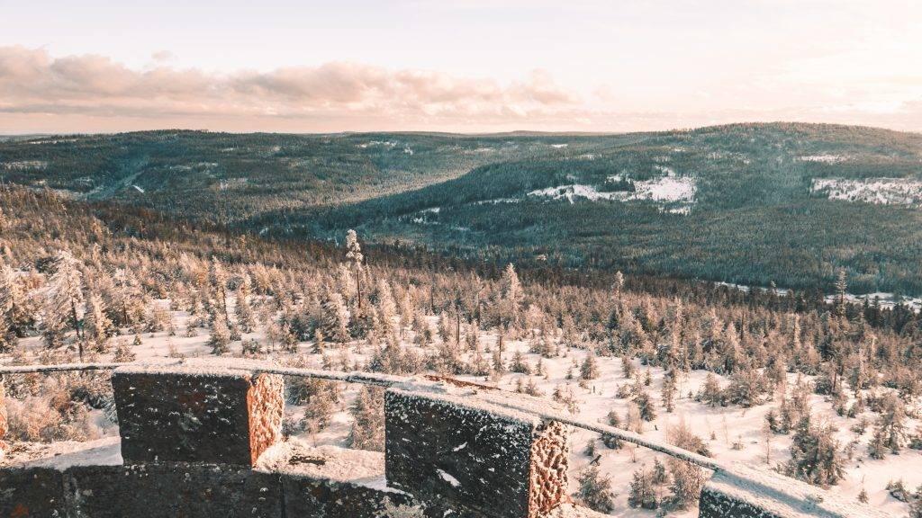 Ausblick Badener Höhe Sonnenuntergang