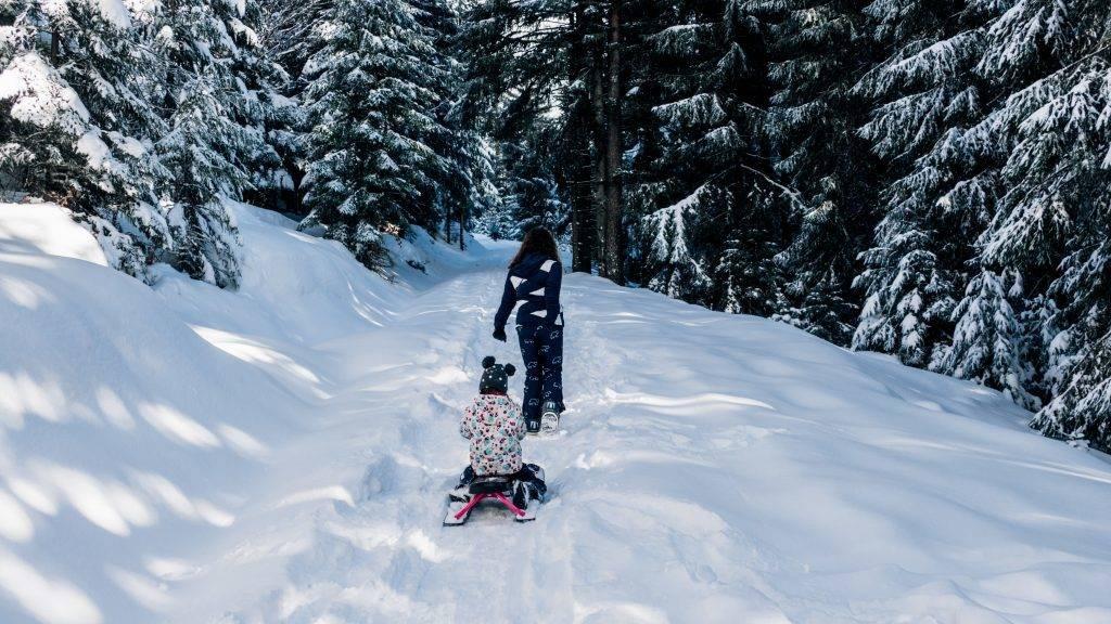 Familen Ausflug Winter Schwarzwald