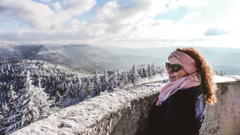 Ausblick Mahlbergturm Winter