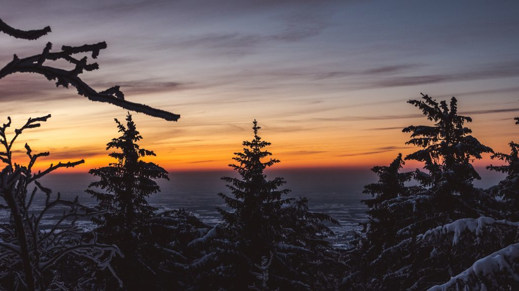 Sonnenuntergang Winter Schwarzwald