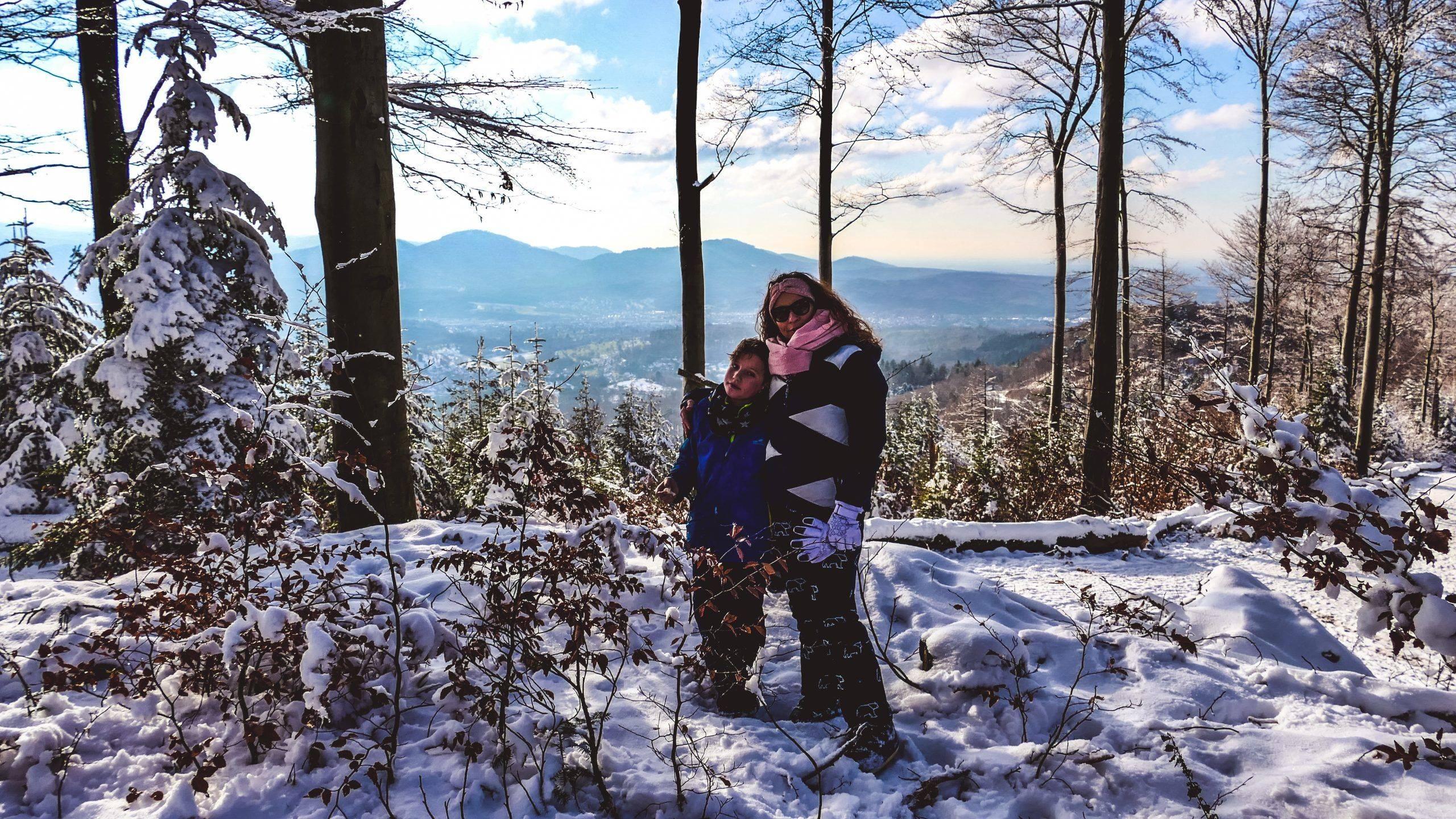 Wandern Kinder Winter Murgtal