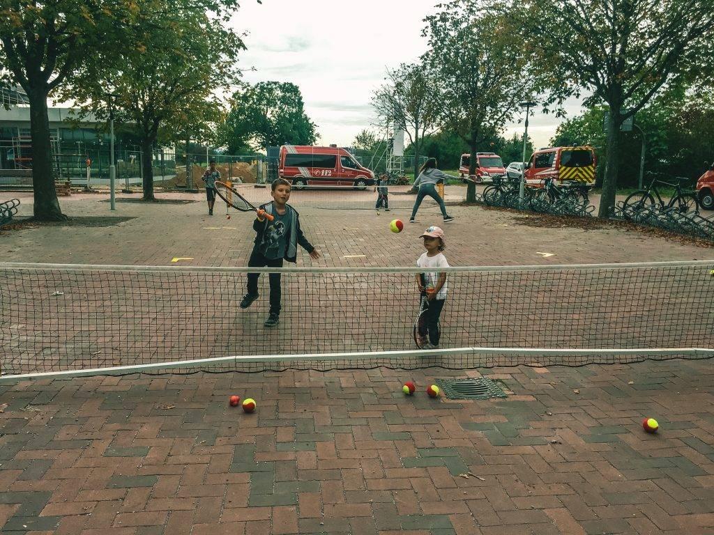 Tennis Spielen Kinderfest Ettlingen