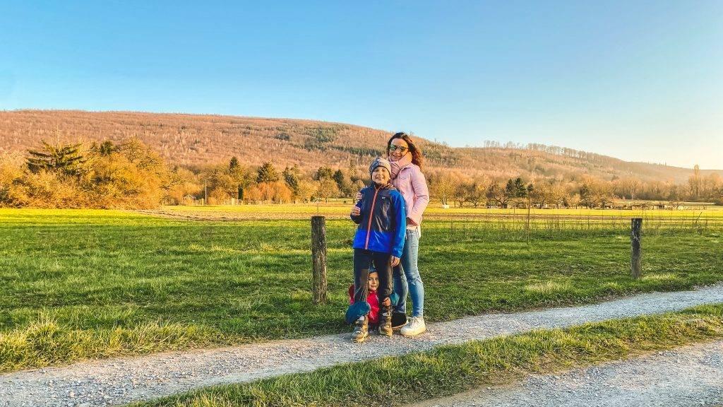 Wandern Familie nördlicher Schwarzwald