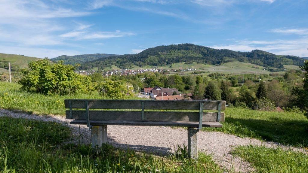 Aussichtsbank Baden-Baden Schwarzwald