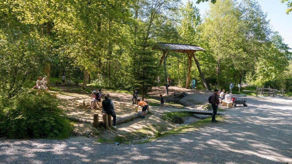 Walderlebniszentrum Ziegelwies Spielplatz Bergwaldpfad