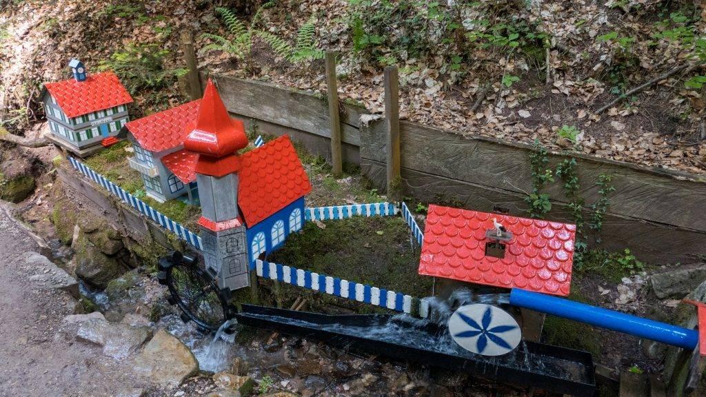 Wasserspiele Schelmenklinge Dorf