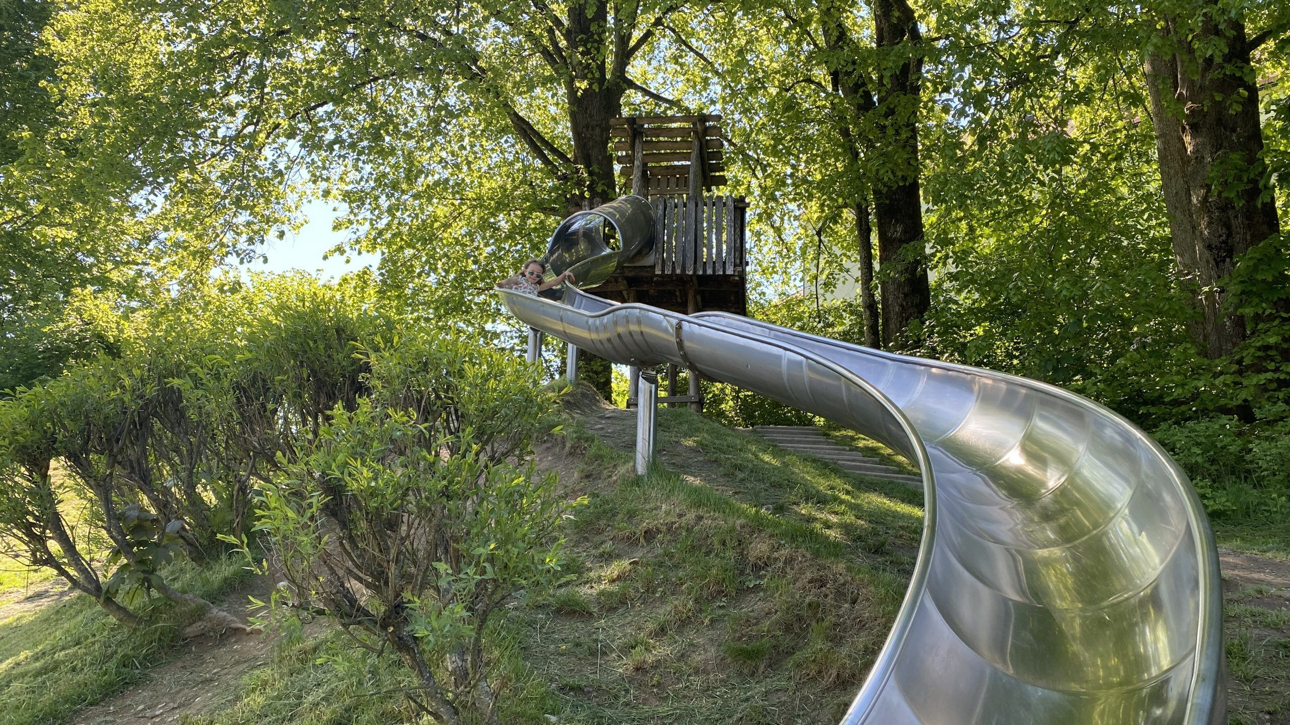 Abenteuerspielplatz Alpsee Rutsche